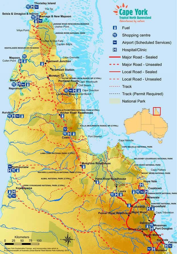 Cape York Map North West Outback Safaris Australia